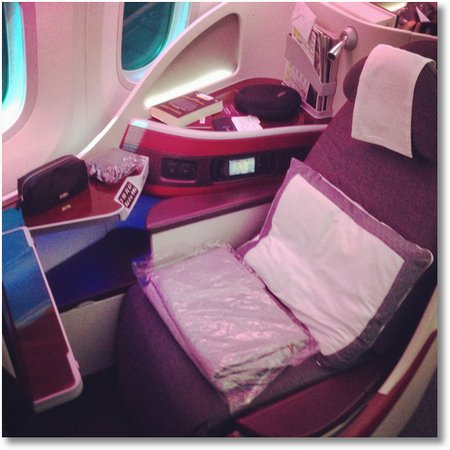 Qatar 787 business seat