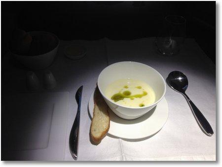 Soupe de tomate blanche
